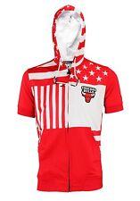 Zipway NBA Men's Chicago Bulls Full Zip Flag Short Sleeve Hoodie