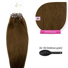 Remy Echthaar Microring Extensions Haarverlängerung #06 mittelbraun 1g