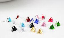 triangle  Love Earrings Women layer colour rhinestone colou Small Stud gift uk