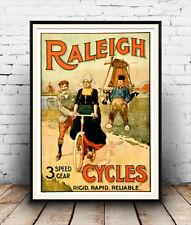 Raleigh, el ciclo de reproducción de publicidad cartel Vintage, Pared Arte.