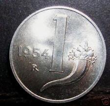 1 Lira 1954  da rotolino in FDC assoluto