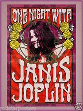 0495 VINTAGE MUSIC POSTER ART Janis Joplin * LIBERA poster