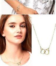 Handschellen Kette Halskette oder Armband silber-/gold-farbig Armkette Handcuffs