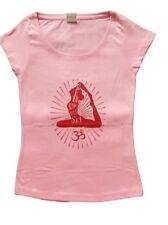Damen Yoga T-Shirt pink , Motiv: Open up