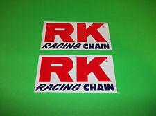 KX KXF RM RMZ YZ YZF CR CRF 65 80 85 125 250 450 RK RACING CHAIN 5 INCH STICKERS