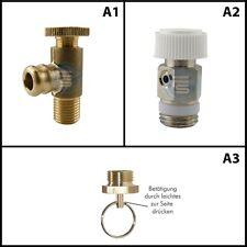Entwässerungsventil Entlüftung Hahn Ablass Kondensat Wasser Luft Kesselventile
