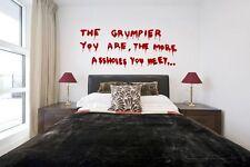 Banksy Graffiti Murales il grumpier lei... grandi Adesivi Da Parete Adesivo divertente