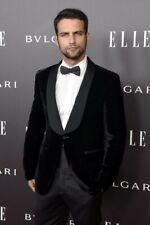 Mens Black Velvet Blazer Tuxedos Shawl Lapel Groom Dinner Wedding Suit Jacket