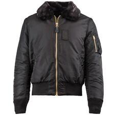 Alpha Industries Men's B-15 Slim Fit Flight Jacket Black