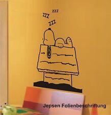 Tierisch Süsses Wandtattoo Snoopy M2 in 40x25 cm in Wunschfarbe