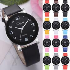 Women Girls Leather Strap Line Analog Quartz Ladies Watches Fashion Watch 8754