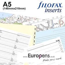 Filofax A5 Organiseur papier fentes recharges