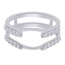 IGI Certified 1/2 Ct Real Diamond Enhancer Guard Wrap Band Ring 14k Gold