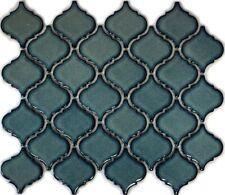 Mosaikfliese blau gesprenkelt Florentiner Fliesenspiegel Küche13-0408_f|10Matten