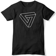 Triangle Illusion Art Mens Funny Unisex T-Shirt