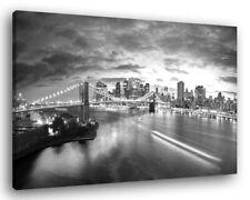 Quadro Moderno NEW YORK SKYLINE 6 B/N Vari Formati Arredamento Stampa su Tela