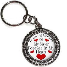 Key Ring In Memory SISTER Of Always In My Heart Purse Charm Memorial Keepsake
