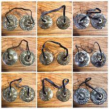 Tibetan Tingsha Bells Bronze Asta Mangal Om Mane Padme Dragon Nepal Buddhist