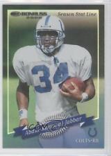 2000 Donruss Season Stat Line #38 Abdul-Karim Al-Jabbar Indianapolis Colts Card