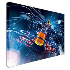 Red Bull F1 coche de Fórmula 1 impresión Abstracto Deporte-Lona Pared Arte