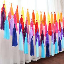 Tassels Garland Tissue Paper Bunting Wedding Birthday Party Baby Shower Décor