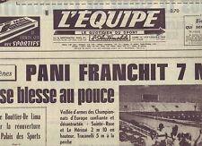 journal  l'equipe 15/09/69  ATHLETISME PANI CYCLISME TOUR DE L'AVENIR ROLLINSON
