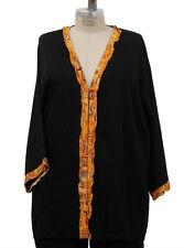 We Be Bop Funky Orange METRO 3/4 Sleeve Smooth Rayon Jacket
