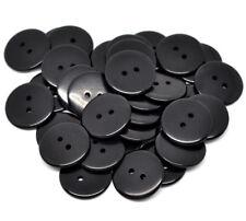 I pulsanti liscia nera in resina .23mm. 2 FORI. da CUCIRE e Card Craft & Progetti