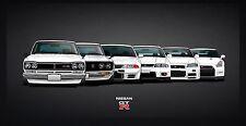 Nissan GTR Evolution Car Poster   Sizes A4 to A0 UK Seller   E009