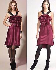 $220 Ali Ro Ruffle Bodice Front Silk Jasmine Cocktail Dress