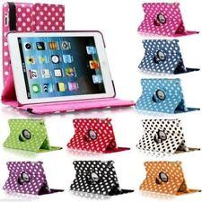 iPad 2 3 4 5 6 Air Mini POLKA DOT Rotate Smart Leather Case Cover
