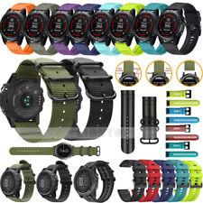 New For Garmin Fenix 3/Fenix 5 5X/5S Plus Watch Woven Nylon/Silicone Band Strap