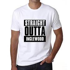 Straight outta INGLEWOOD Tshirt Col Rond Homme T-shirt, Blanc, Cadeau