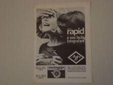 advertising Pubblicità 1964 AGFA RAPID