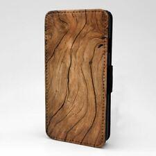 Phone Flip Case Cover Wood Print - S577