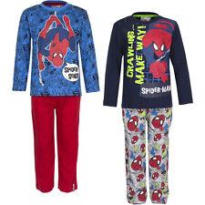 Pyjama Set Schlafanzug Jungen Marvel Spiderman Rot Grau Blau 98 104 116 128 #46