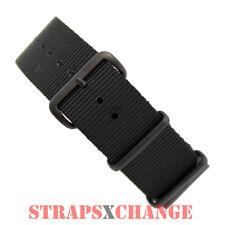PREMIUM PVD NATO® G10 BLACK 4 RING NYLON military diver's watch strap band
