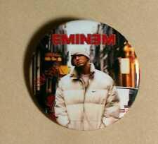 "EMINEM SLIM SHADY WHITE COAT & HAT CITY MATHERS  1 3/4"" MUSIC PIN BUTTON PINBACK"