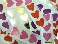 Mini Sticker Pack , 28x28mm Heart Shape Coloured Durable Plastic Seal Labels