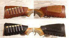 Rifle De Cuero Cubierta Culata titular munición Cartucho mejilla resto Acolchado 8 Coche-DGES