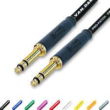 Neutrik Bantam Jack Parche Cable Equilibrado trs 4.4mm TT Conectores Van Damme