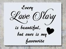 Todo LOVE STORY ES PRECIOSO ours ES My Favourite ADHESIVO adhesivo pared imagen