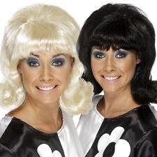 Années 60 noir mod flick perruque dames Cilla ACCESSOIRES COSTUME ROBE FANTAISIE