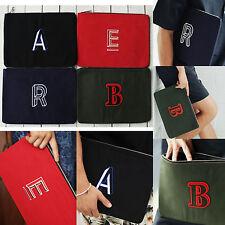 New Stylish Fashion Unisex ABC Clutch Bag Pouch Wallet Purse Cotton Alphabet