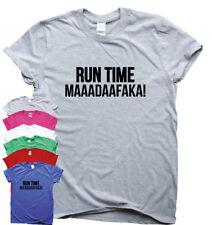 Tiempo de ejecución maaadaafaka Gracioso ejecutar Humor Camiseta para Mujer Hombre Gimnasio Jog Entrenamiento Top
