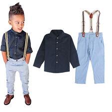 Kinder Jungen Kleid Hemd + Hose Party Formale Outfit Set Kombinationen Kleidung