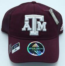 c82154fc7a09f NCAA Texas A M Aggies Adidas Half Mesh Flex Fit Curved Brim Cap Hat Beanie  NEW