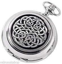 Celtic Pocket Watch Neverending  Knot  Full Hunter  Woodford, Mens Gift