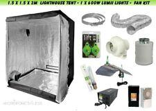 Complete Hydroponic Fan Filter Lumii Light Kit 600 watt Grow Tent 1.5x1.5x2m