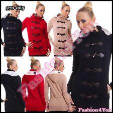 Femme manteau femmes outwear outdoor casual manteau avec capuche taille 8,10,12 uk